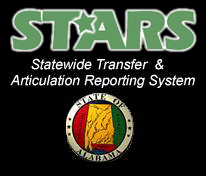 STARS, Statewide Transfer and Articulation Reporting System, logo.