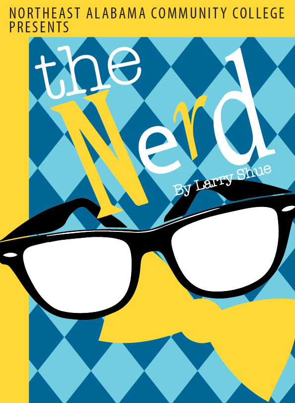 Program Cover for The Nerd with glasses and bowtie