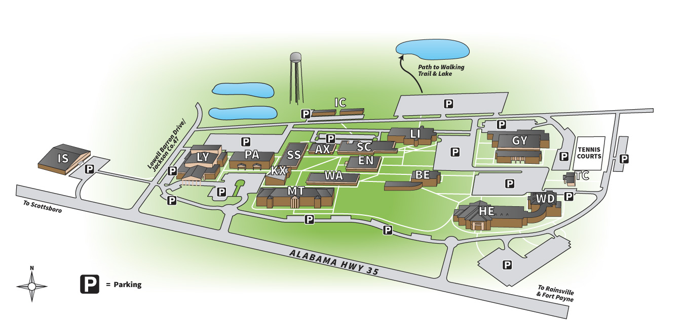 Campus Map Northeast Alabama Community College